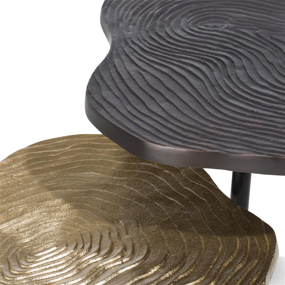 Bout de canapé 2 pièces noir et gold