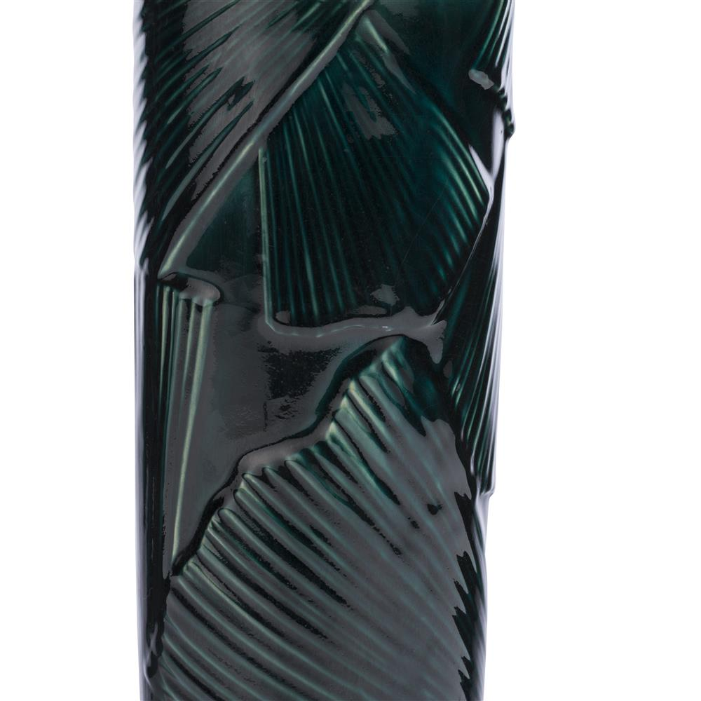 Vase en céramique vert foncé