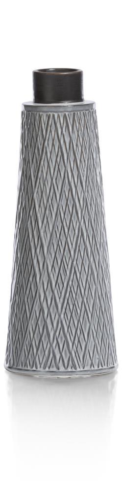 Vase en céramique gris