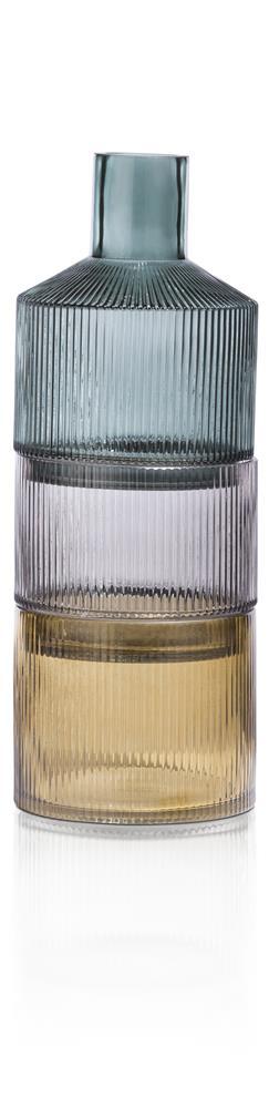 Vase tricolore trois parties superposables