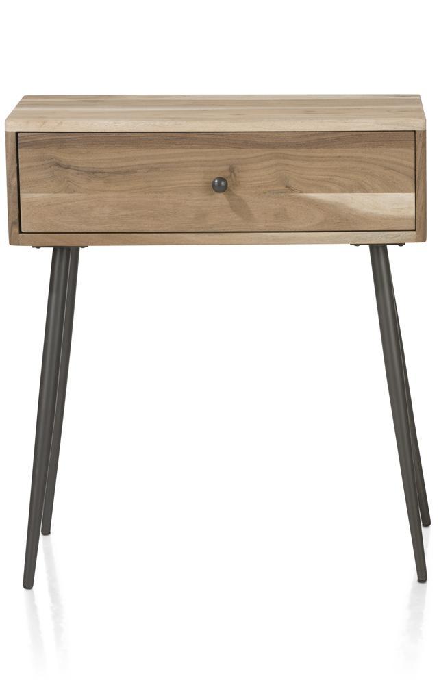 Table d'appoint en bois avec tiroir