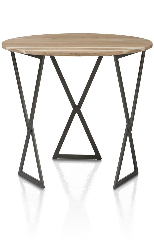 Table basse pliable bois et métal noir