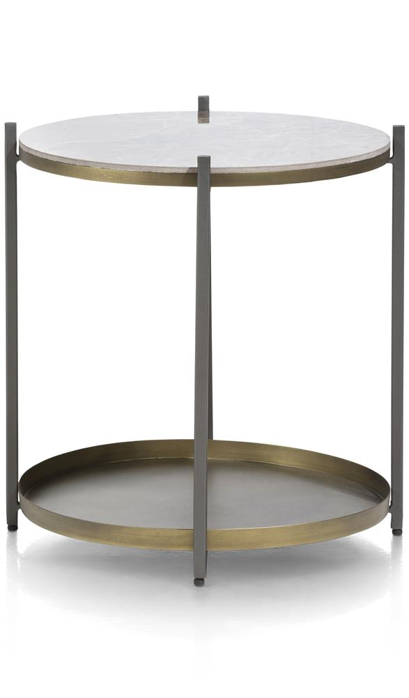 Table d'appoint double plateau rond