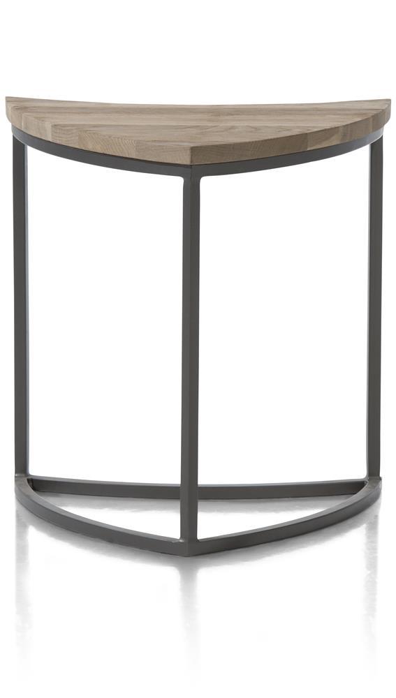 Table d'appoint plateau forme feuille en bois