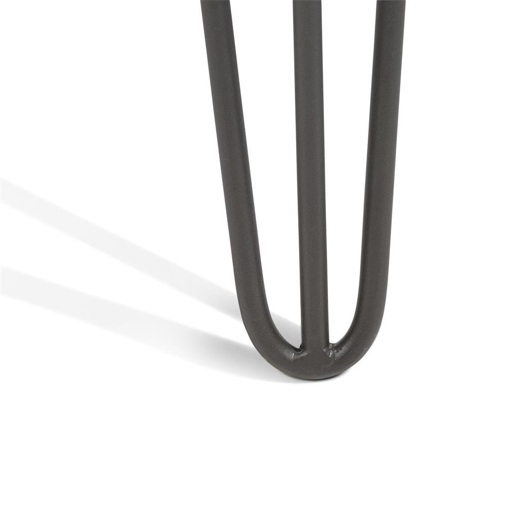 Console bois noir pieds métalliques