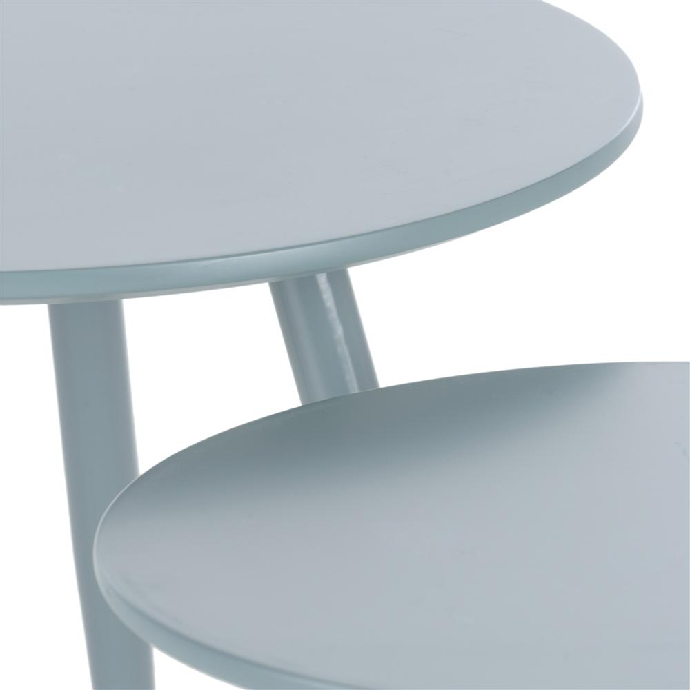 Double table d'appoint plateaux ronds trois pieds