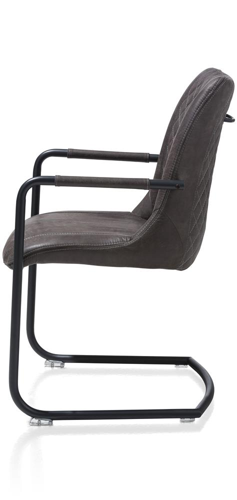 Chaise couleur anthracite avec accoudoirs