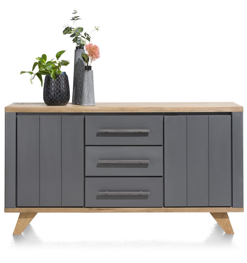 Buffet 160cm gris et bois