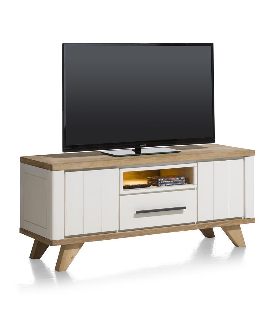Buffet 140 cm bois et blanc