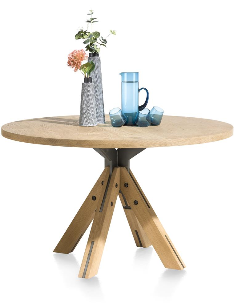 Table ronde en bois