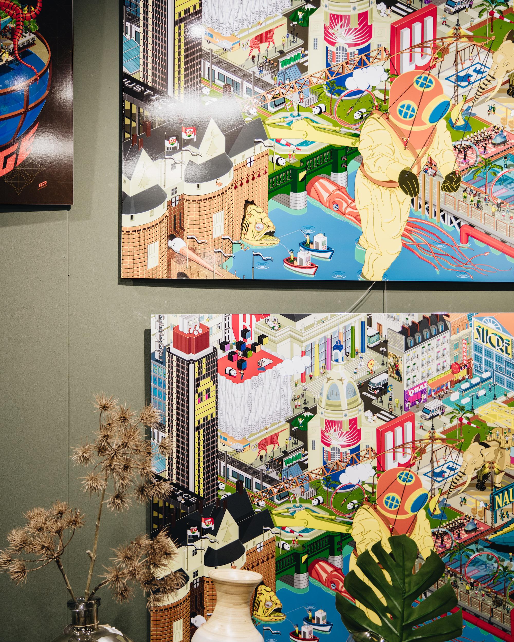 TableauNantes Pixelart par Franck Drion