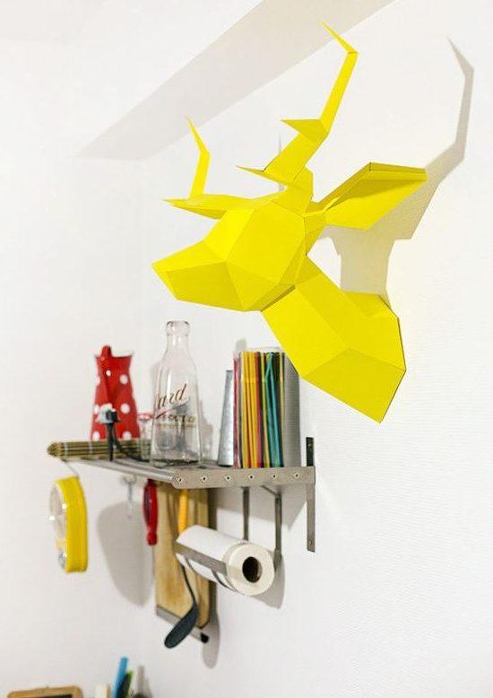 tête de cerf origami