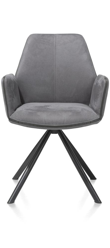 Fauteuil anthracite pieds noirs
