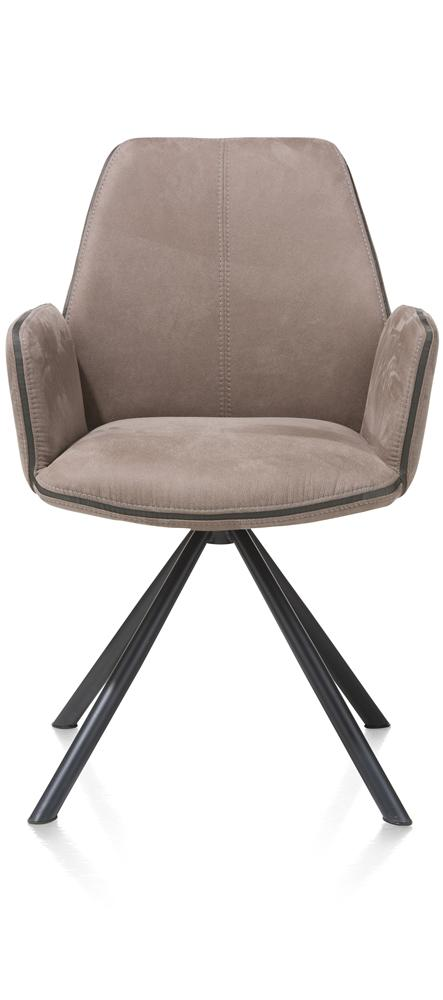 Fauteuil taupe pieds noirs