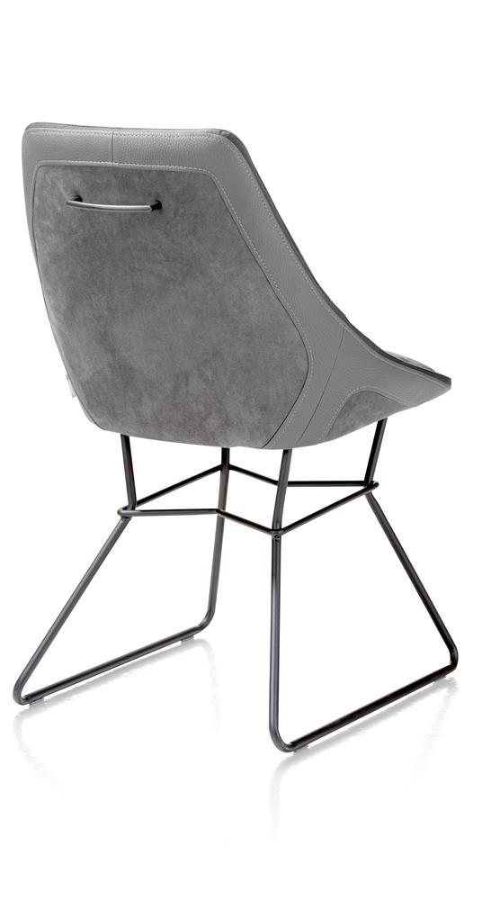 Chaise design gris clair