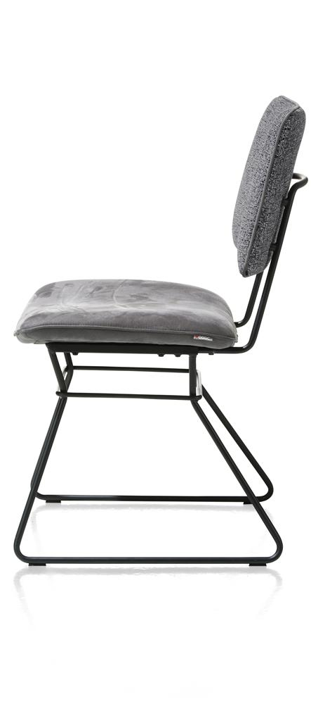 Chaise anthracite cadre noir