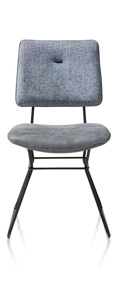 Chaise bleu ciel cadre noir