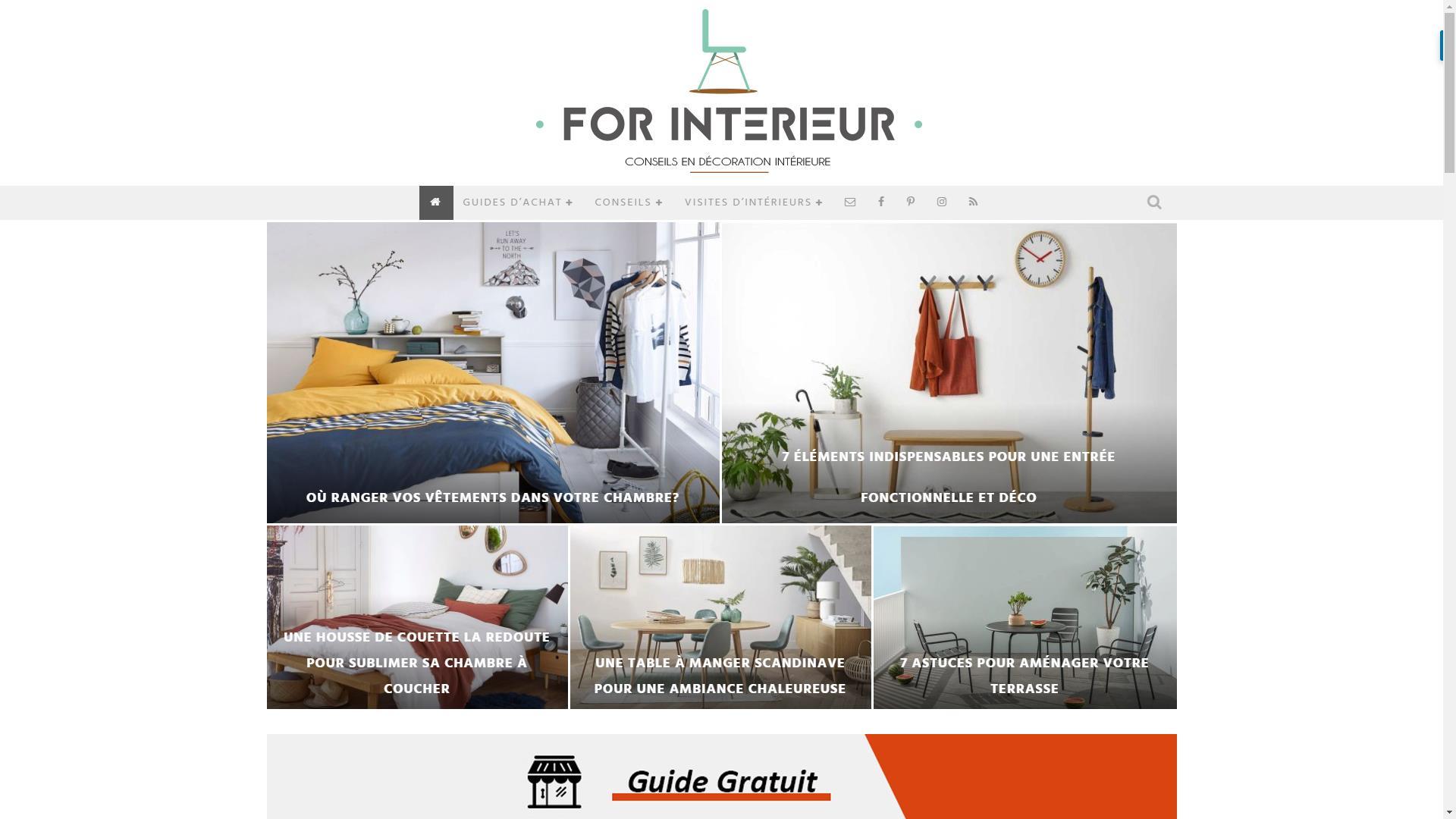 Page d'accueil blog For Interieur