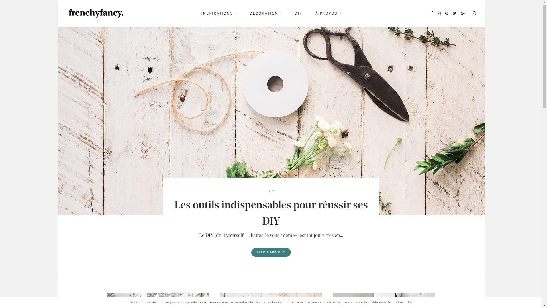 Page d'accueil du blog déco Frenchy Fancy