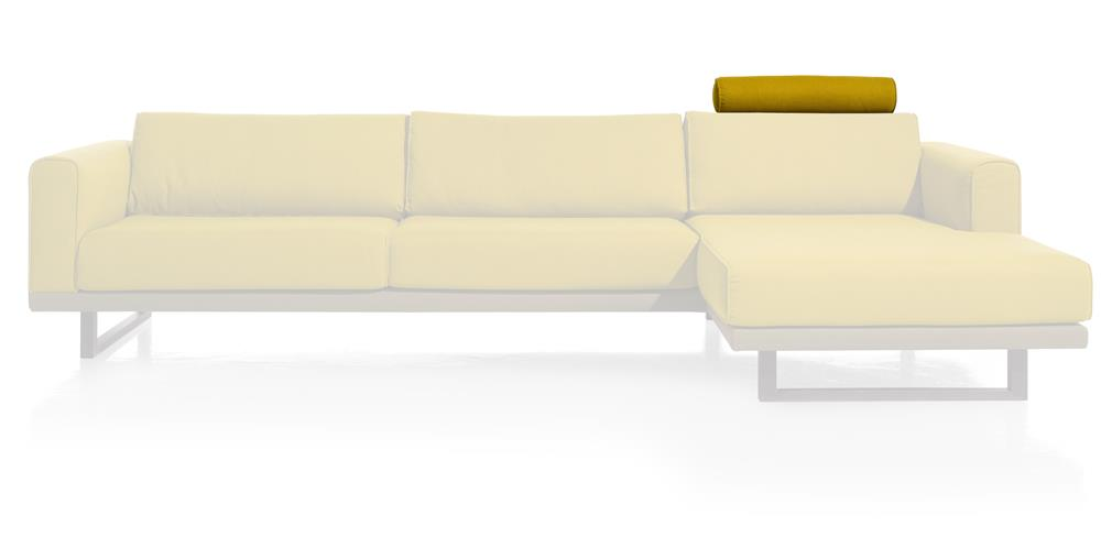 Element appui-tête canapé d'angle jaune