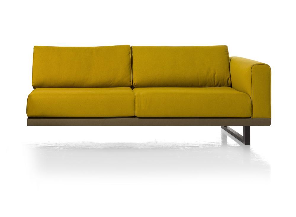 Élément 2,5 places canapé d'angle jaune