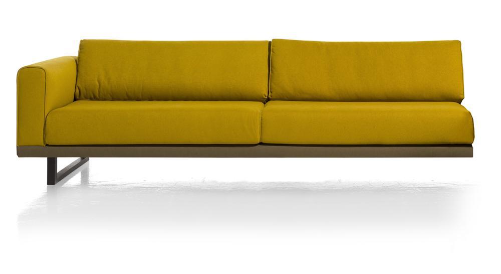 Element 3,5 places canapé d'angle jaune