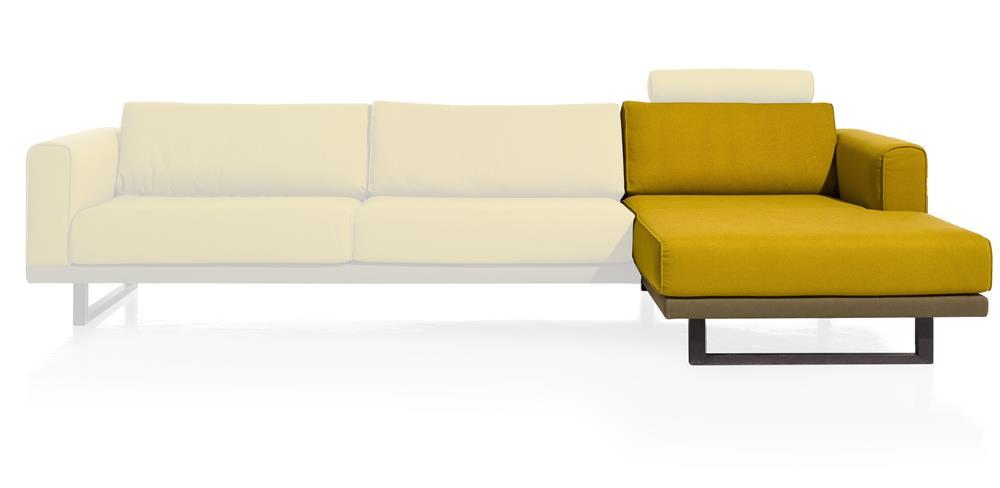 Element méridienne canapé d'angle jaune