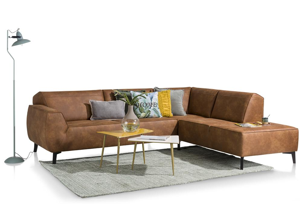 Canapé d'angle cognac