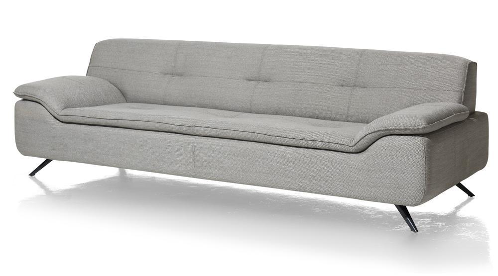Canapé design gris clair pieds noirs