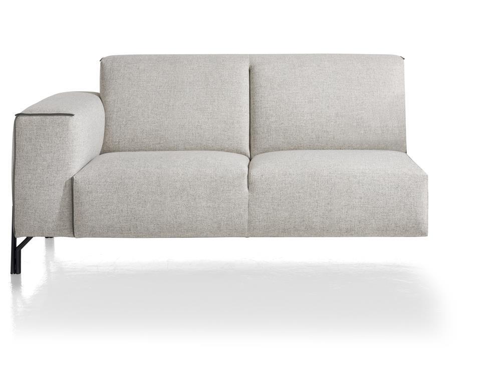Canapé d'angle élément 2 places avec accoudoir