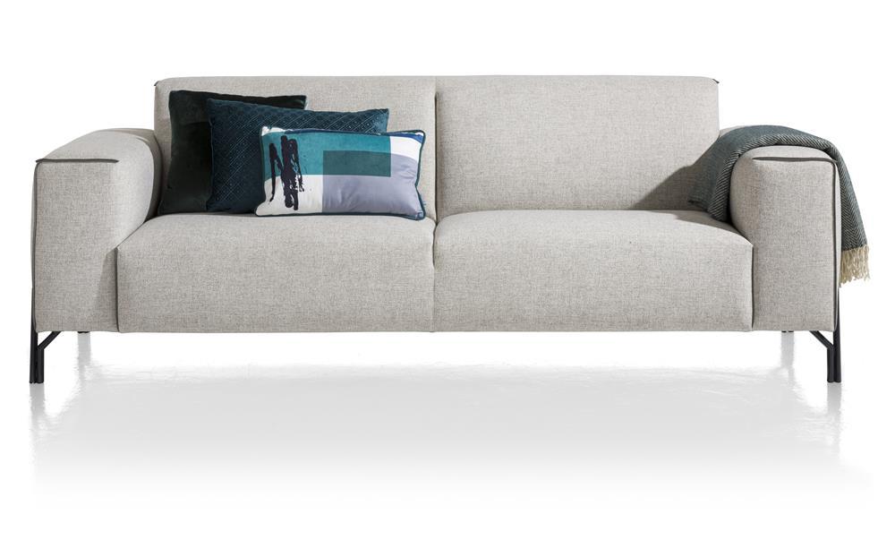 Canapé 3 places gris avec coussins