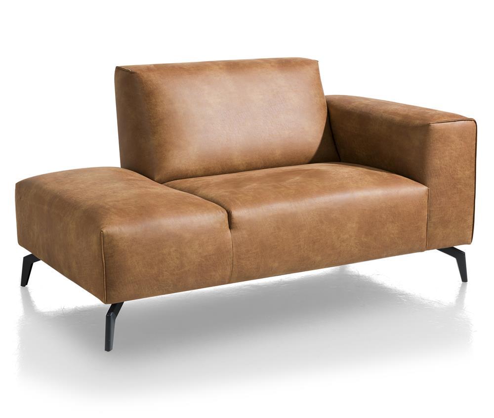 Canapé d'angle élément divan marron