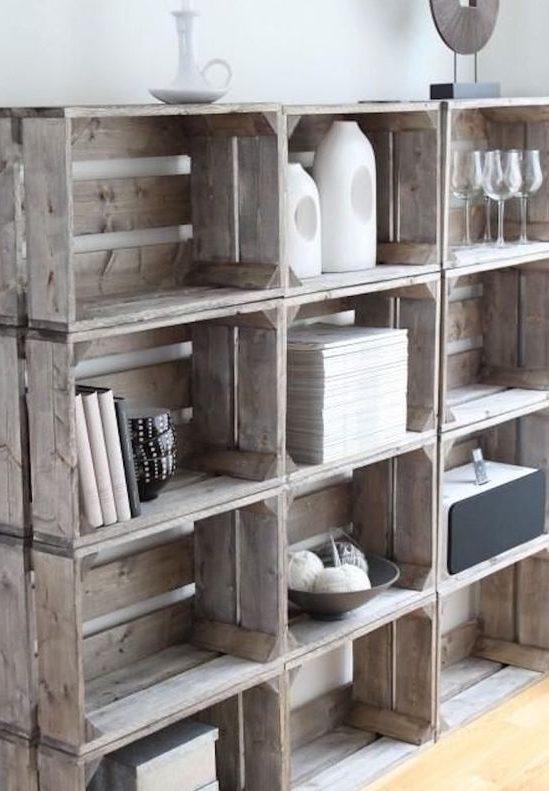 DIY étagère caisses à vin