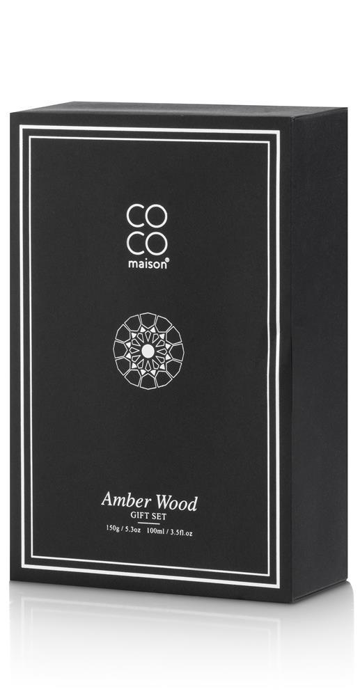 Coffret noir bougie parfumée et diffuseur