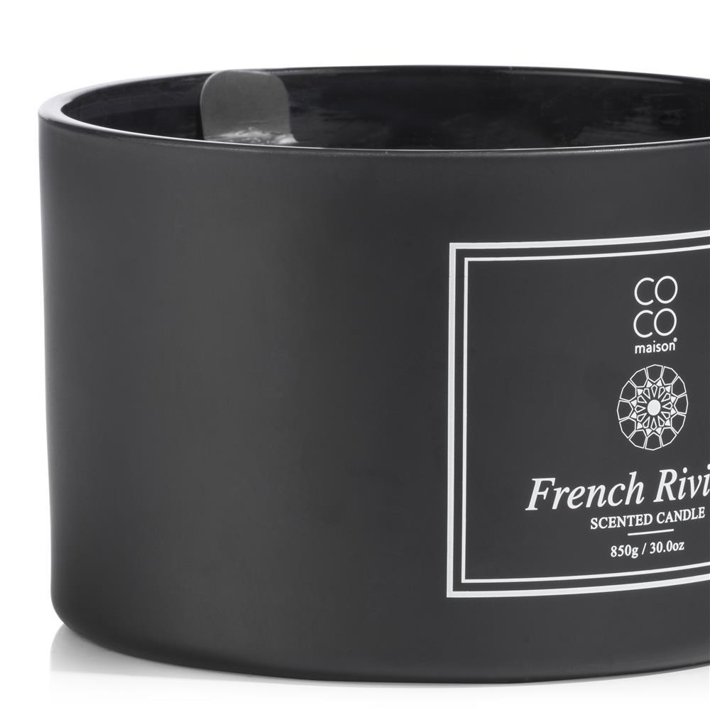 Grande bougie parfumée noire