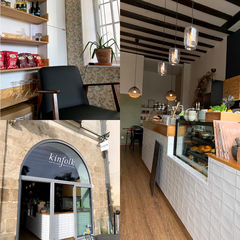 montage 3 photos coffee shop anglo-saxon