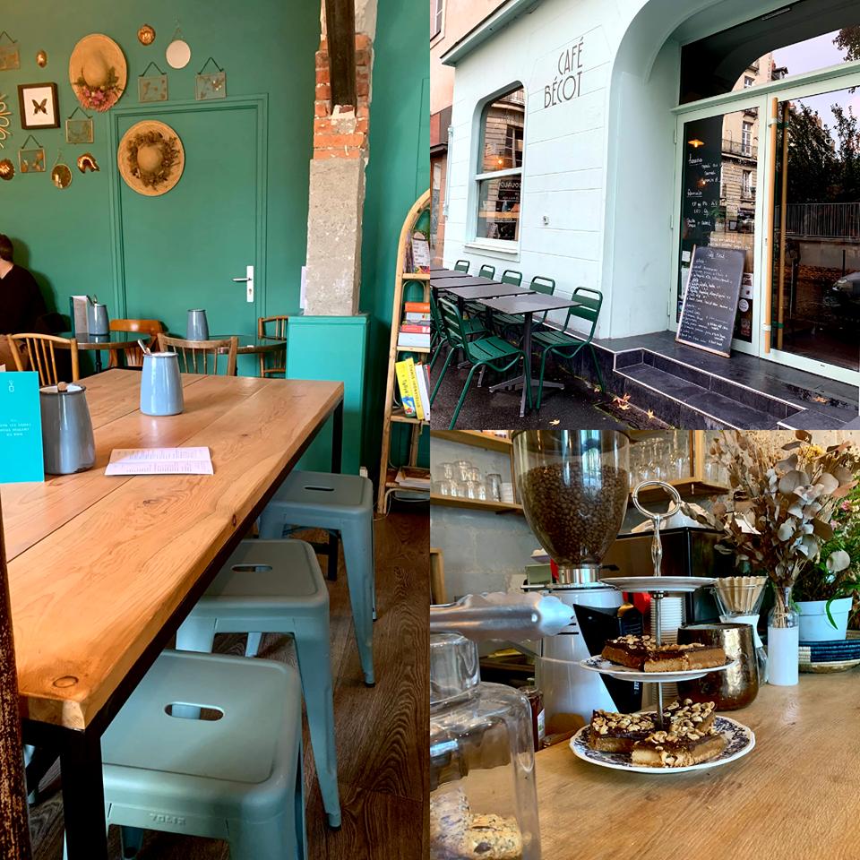 montage 3 photos coffee shop chaleureux
