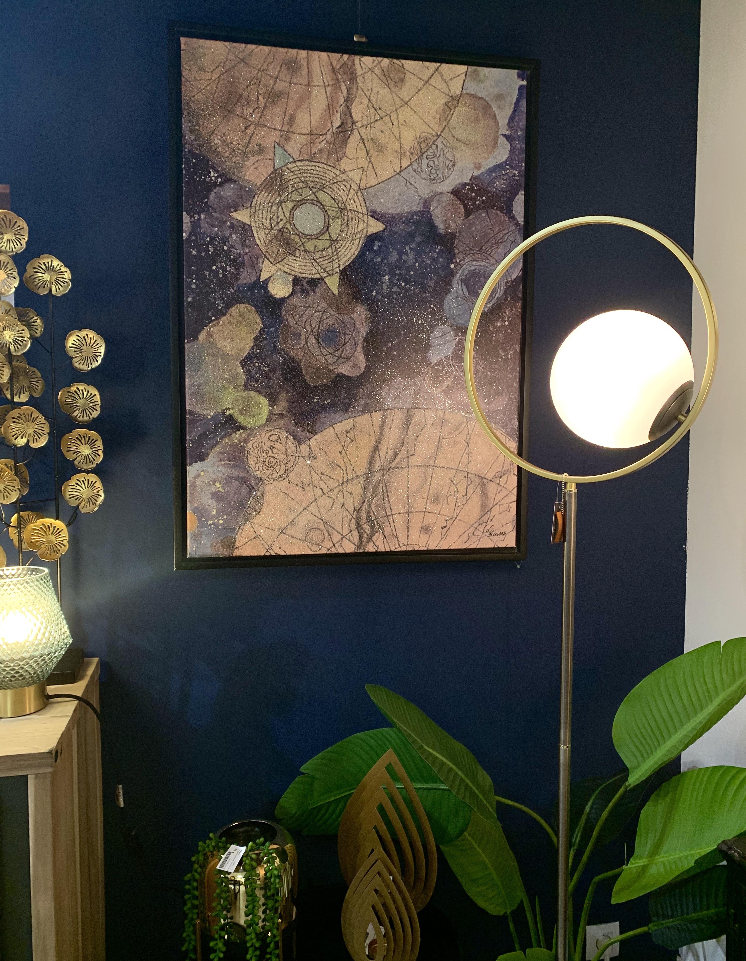 lampe sur pied doré design