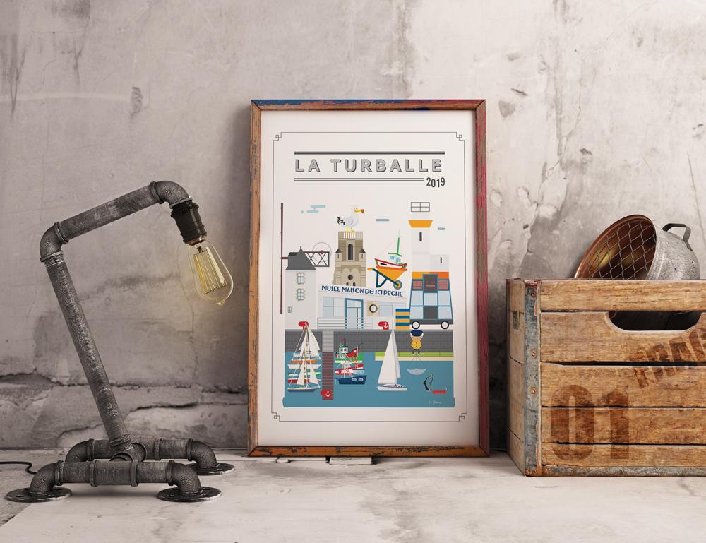 Tableau illustration La Turballe