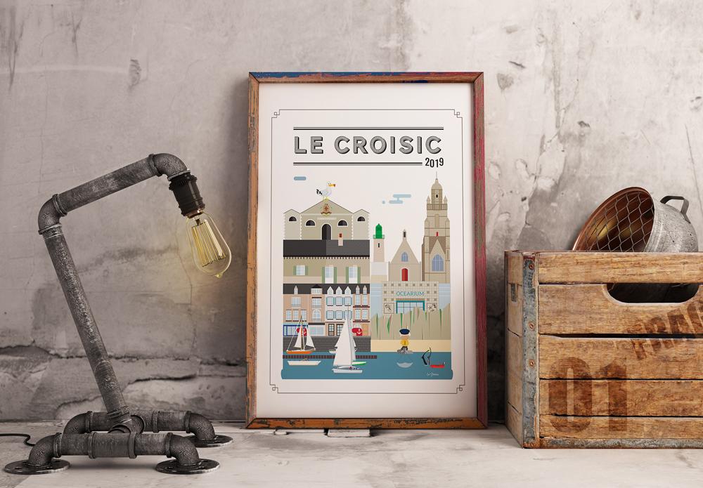 Tableau illustration Le Croisic