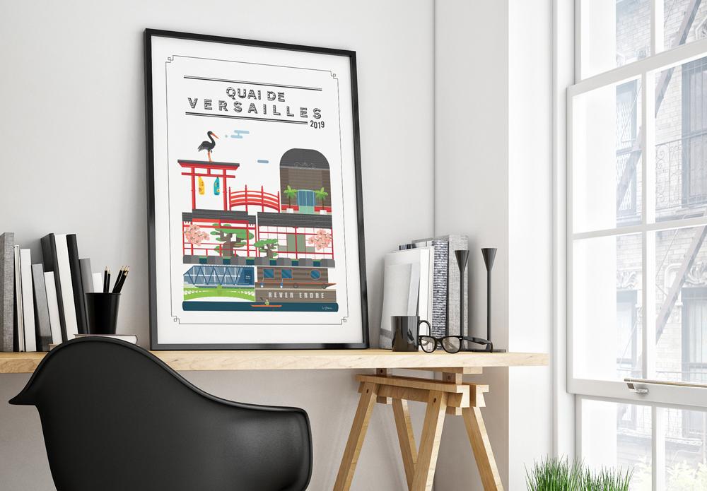 Tableau illustration Quai de Versailles