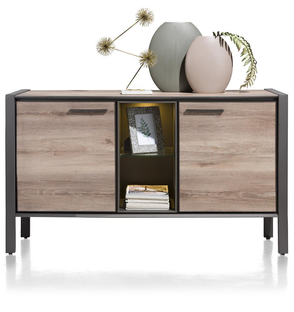 dressoir style bois et métal