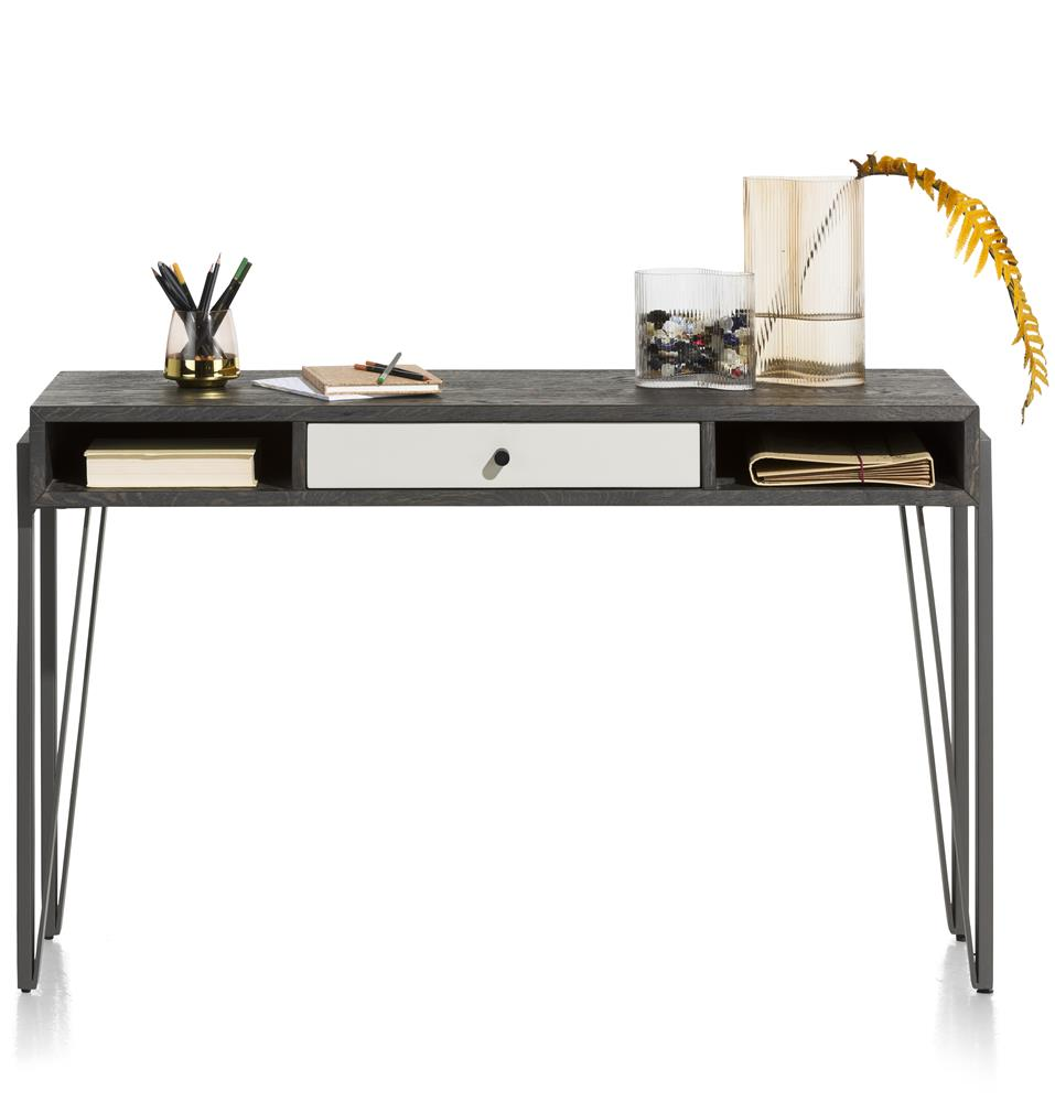 Console marron carbone et blanc contemporaine