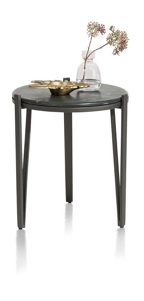 Table d'appoint ronde marbre noir