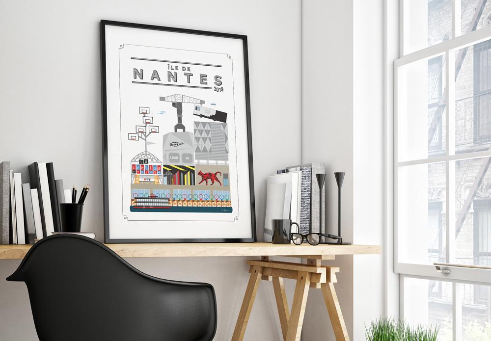 Tableau illustration Île de Nantes