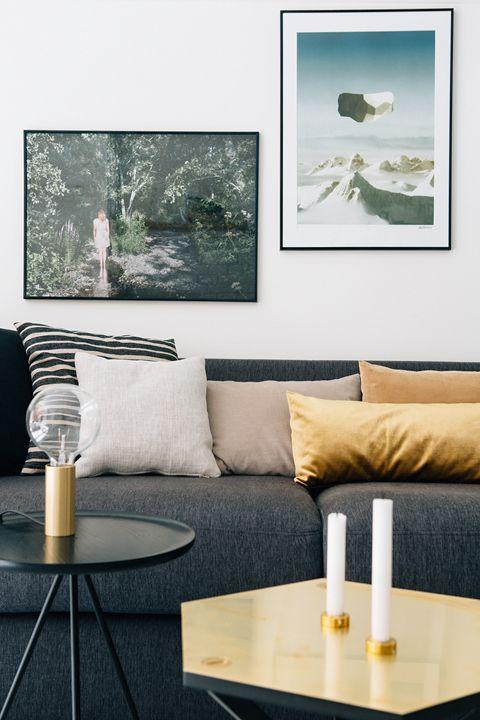 salon décoration moderne détails gold