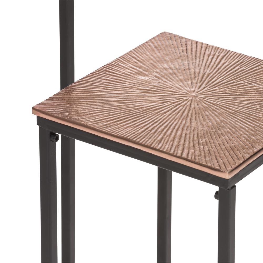 Bout de canapé haut cuivre et métal