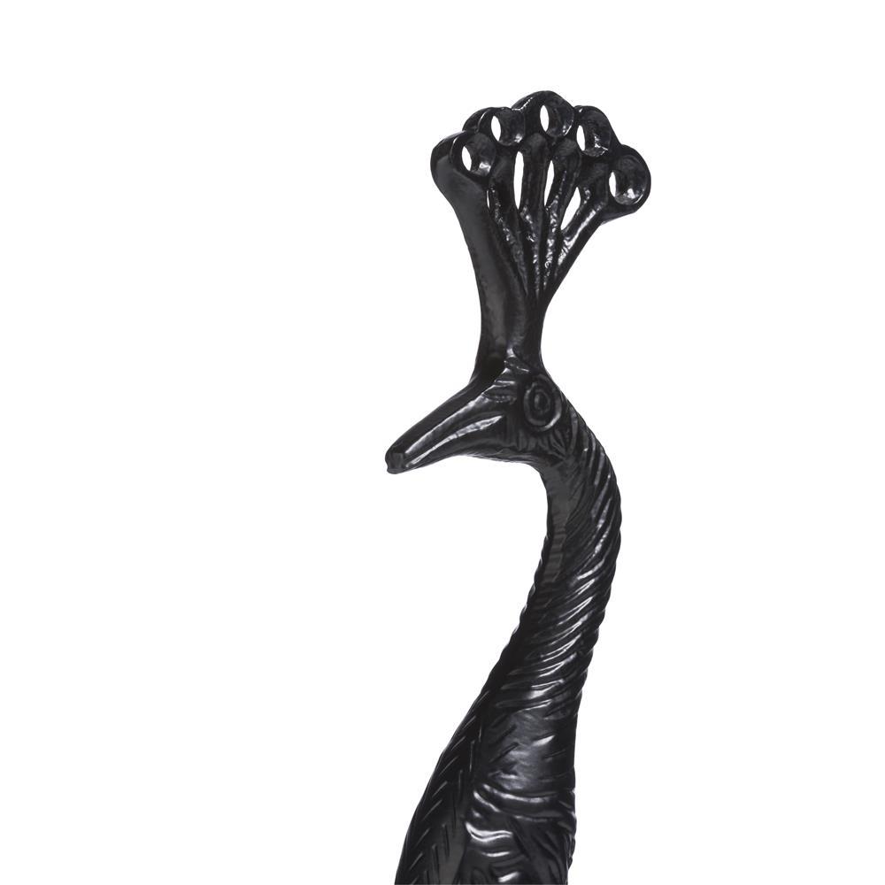 Chandelier paon couleur noir