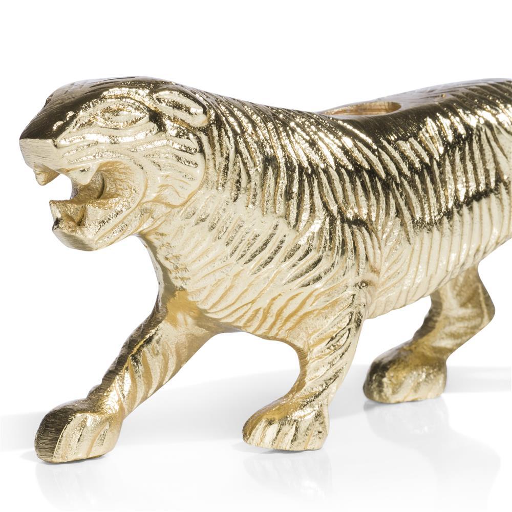 Chandelier tigre doré