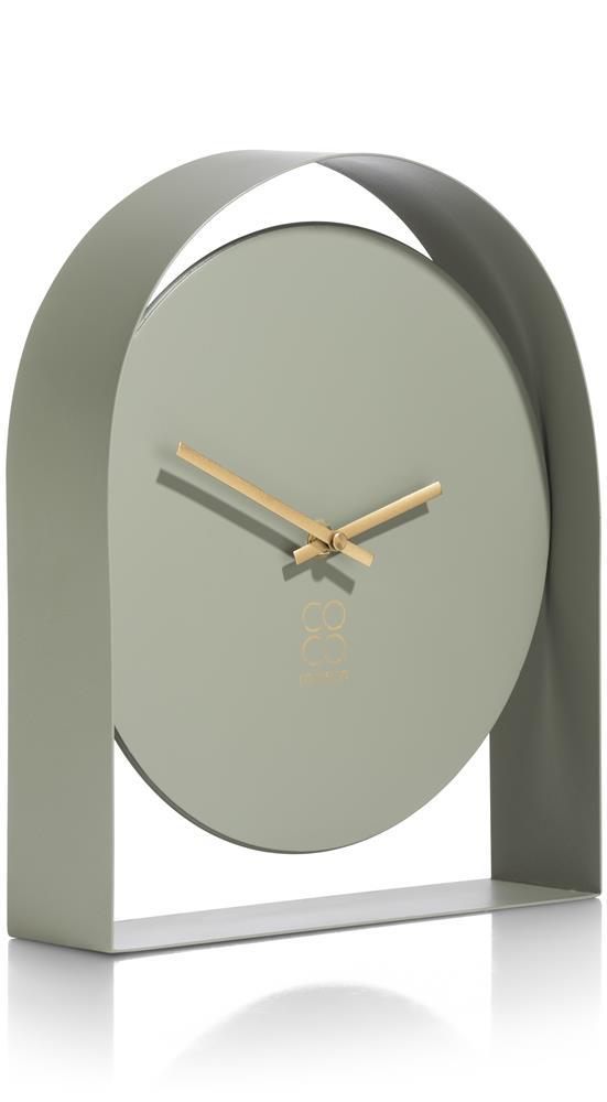 Horloge à poser minimaliste couleur vert sauge